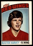 1976 O-Pee-Chee NHL #212  Buster Harvey  Front Thumbnail
