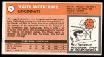 1970 Topps #21  Wally Anderzunas   Back Thumbnail