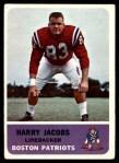1962 Fleer #10  Harry Jacobs  Front Thumbnail