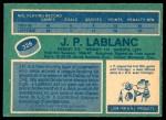 1976 O-Pee-Chee NHL #326  J.P. LeBlanc  Back Thumbnail
