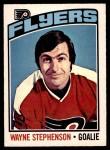 1976 O-Pee-Chee NHL #190  Wayne Stephenson  Front Thumbnail