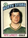 1976 O-Pee-Chee NHL #184  Pete Lopresti  Front Thumbnail