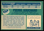 1976 O-Pee-Chee NHL #177  Pierre Bouchard  Back Thumbnail