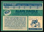 1976 O-Pee-Chee NHL #156  Alain Daigle  Back Thumbnail