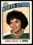 1976 O-Pee-Chee NHL #87  Ernie Hicke  Front Thumbnail