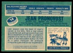 1976 O-Pee-Chee NHL #14  Jean Pronovost  Back Thumbnail