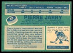 1976 O-Pee-Chee NHL #49  Pierre Jarry  Back Thumbnail