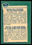 1976 O-Pee-Chee NHL #67   -  Bryan Trottier Record Breaker Back Thumbnail