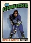 1976 O-Pee-Chee NHL #366  Harold Snepsts  Front Thumbnail