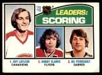 1976 O-Pee-Chee NHL #3   -  Guy Lafleur / Bobby Clarke / Gilbert Perreault Scoring Leaders Front Thumbnail