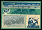1976 O-Pee-Chee NHL #248  Ron Schock  Back Thumbnail