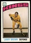1976 O-Pee-Chee NHL #355  Larry Brown  Front Thumbnail