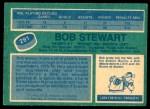 1976 O-Pee-Chee NHL #291  Bob Stewart  Back Thumbnail