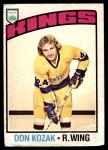 1976 O-Pee-Chee NHL #185  Don Kozak  Front Thumbnail