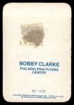 1976 Topps Glossy #1  Bobby Clarke  Back Thumbnail