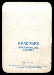 1976 Topps Glossy #2  Brad Park  Back Thumbnail