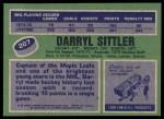 1976 Topps #207  Darryl Sittler  Back Thumbnail