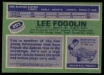 1976 Topps #253  Lee Fogolin  Back Thumbnail