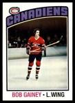 1976 Topps #44  Bob Gainey  Front Thumbnail