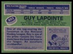 1976 Topps #223  Guy Lapointe  Back Thumbnail