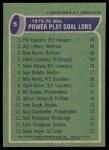1976 Topps #5   -  Esposito / LaFleur / Martin / LaRouche / Potvin Power Play Goals Back Thumbnail