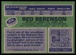 1976 Topps #236  Red Berenson  Back Thumbnail
