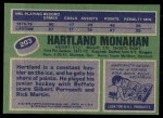 1976 Topps #203  Hartland Monahan  Back Thumbnail