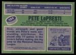 1976 Topps #184  Pete LoPresti  Back Thumbnail