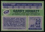 1976 Topps #206  Garry Howatt  Back Thumbnail