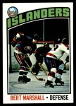 1976 Topps #62  Bert Marshall  Front Thumbnail
