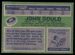 1976 Topps #85  John Gould  Back Thumbnail