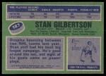 1976 Topps #187  Stan Gibertson  Back Thumbnail