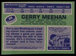 1976 Topps #35  Gerry Meehan  Back Thumbnail
