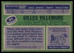 1976 Topps #61  Gilles Villemure  Back Thumbnail