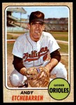 1968 Topps #204  Andy Etchebarren  Front Thumbnail