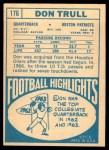 1968 Topps #176  Don Trull  Back Thumbnail