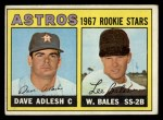 1967 Topps #51   -  Dave Adlesh / Wes Bales Astros Rookies Front Thumbnail