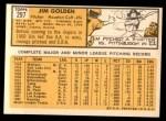 1963 Topps #297  Jim Golden  Back Thumbnail