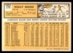 1963 Topps #279  Wally Moon  Back Thumbnail