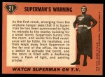 1966 Topps Superman #21   Superman's Warning Back Thumbnail