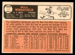 1966 Topps #443  Bill Wakefield  Back Thumbnail