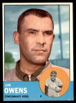 1963 Topps #483  Jim Owens  Front Thumbnail