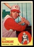 1963 Topps #518  Don Blasingame  Front Thumbnail