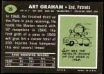 1969 Topps #39  Art Graham  Back Thumbnail