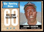 1968 Topps #370   -  Hank Aaron All-Star Front Thumbnail