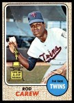1968 Topps #80  Rod Carew  Front Thumbnail