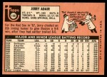 1969 Topps #159  Jerry Adair  Back Thumbnail