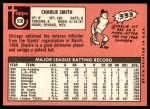 1969 Topps #538  Charlie Smith  Back Thumbnail
