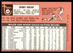 1969 Topps #445  Bobby Knoop  Back Thumbnail