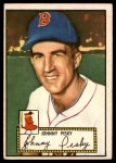 1952 Topps #15 RED Johnny Pesky  Front Thumbnail